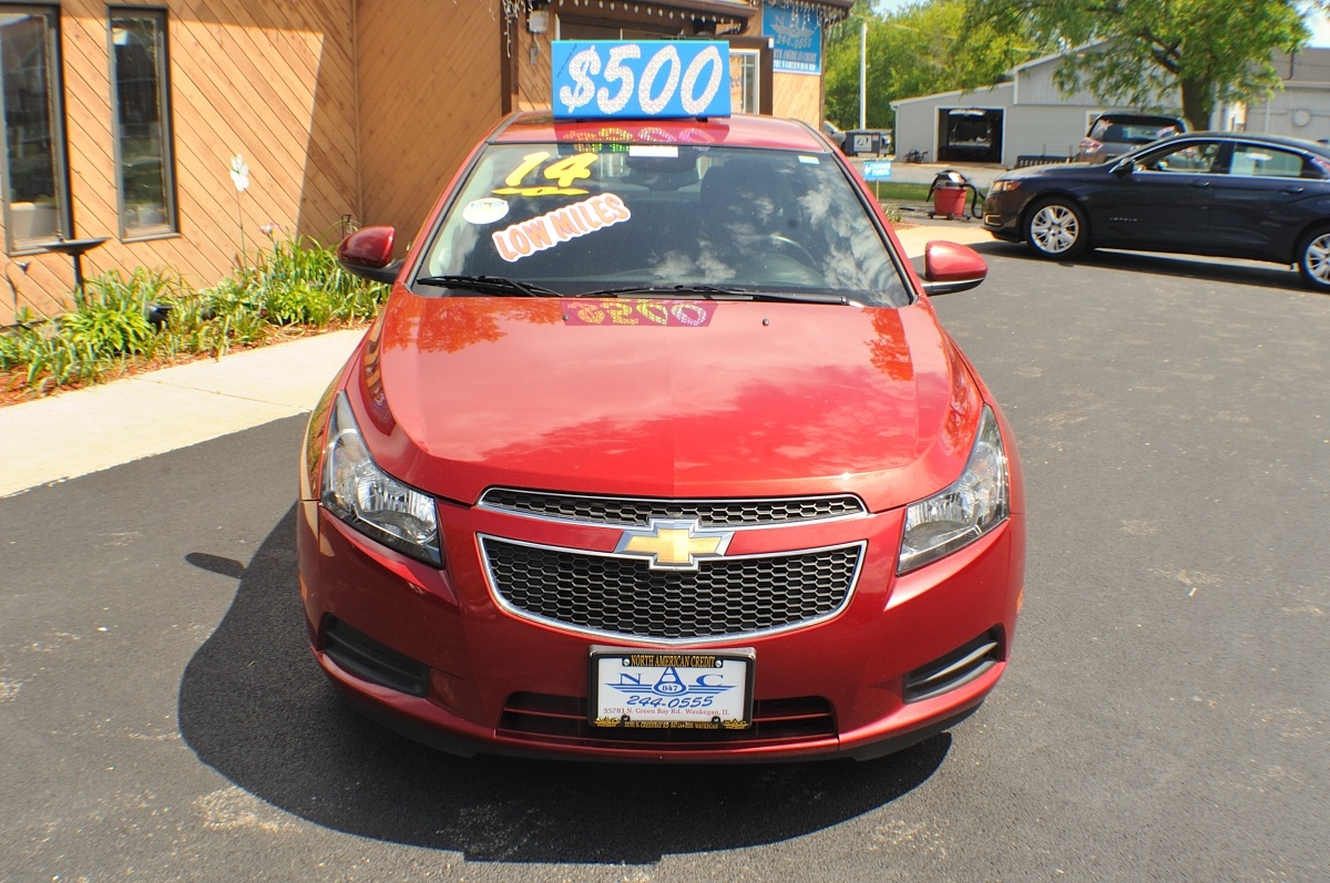 2014 Chevrolet Cruze LT Red Used Sedan Sale Gurnee Kenosha Mchenry Chicago Illinois