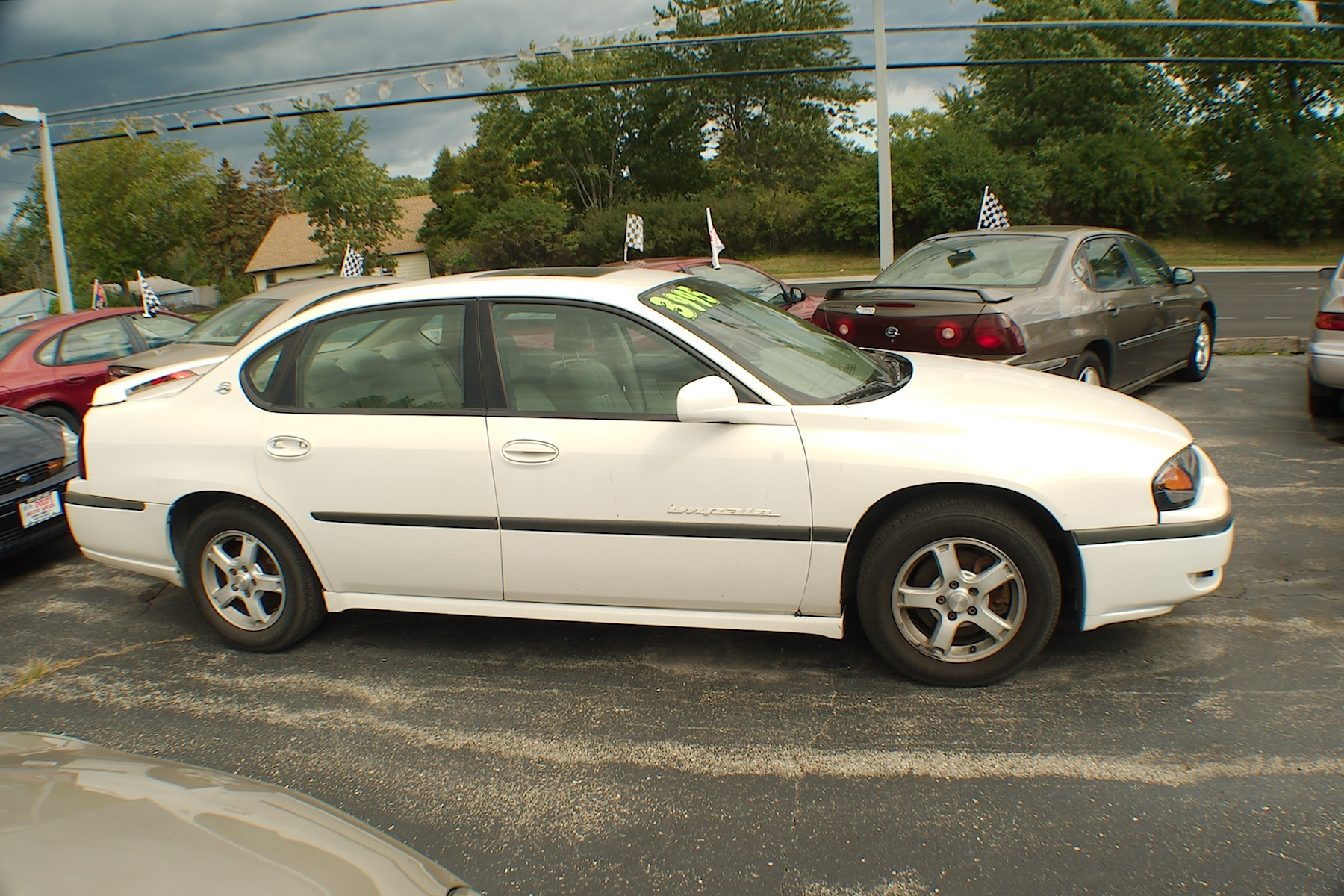 2003 Chevrolet Impala LS White Sedan Sale Antioch Zion Waukegan Lake County Illinois