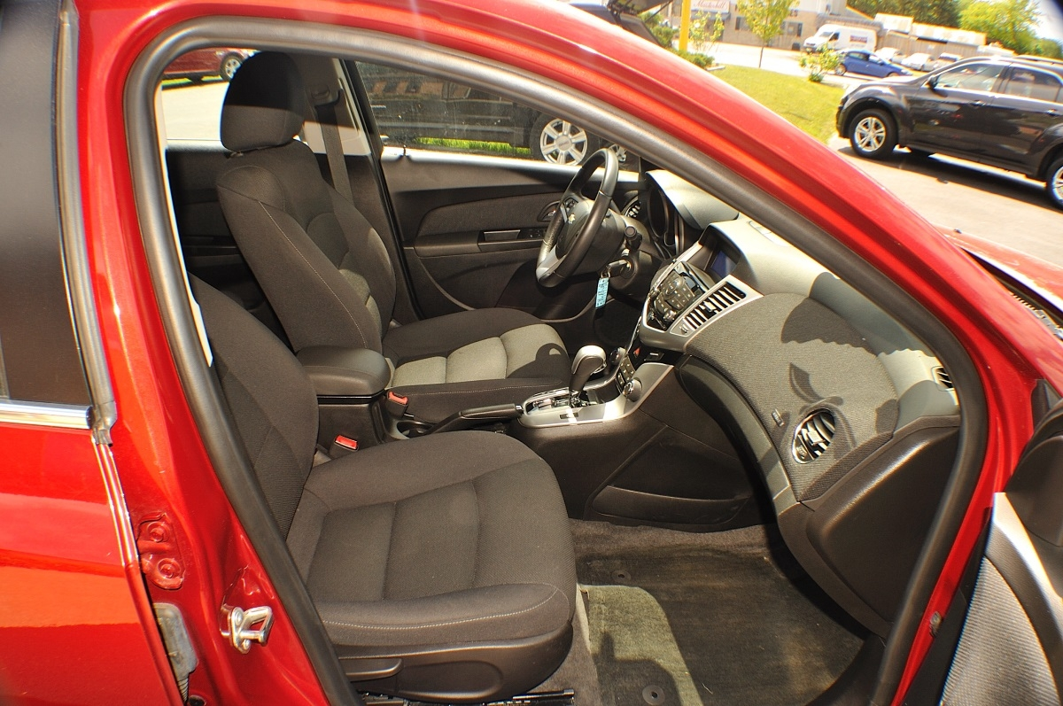 2014 Chevrolet Cruze LT Red Used Sedan Sale Lake Villa Lake Zurich Lakemoor Milwaukee