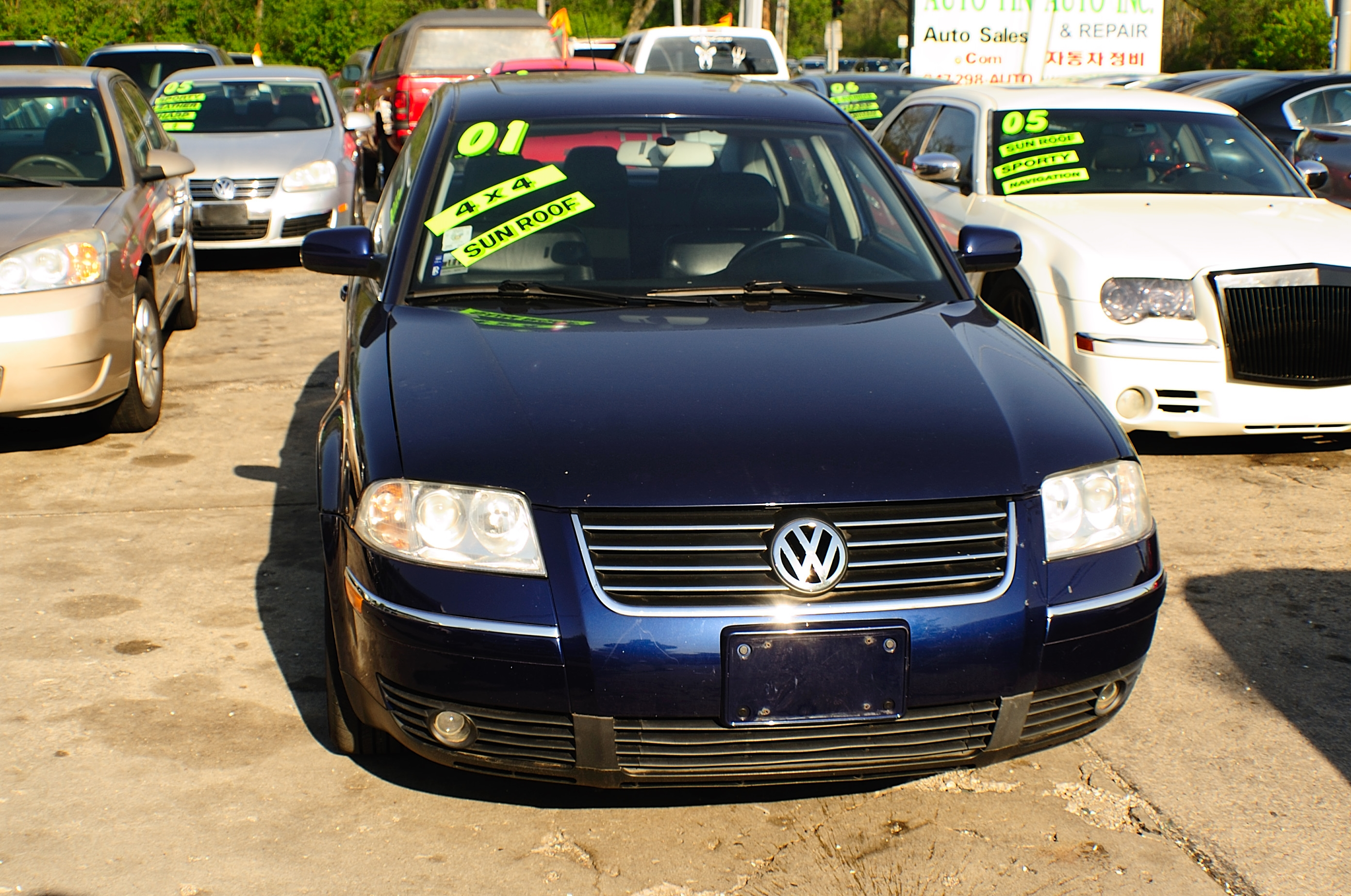 2001 Volkswagen Passat Blue Used Sedan car sale Buffalo Grove Bollingbrook Carol Stream