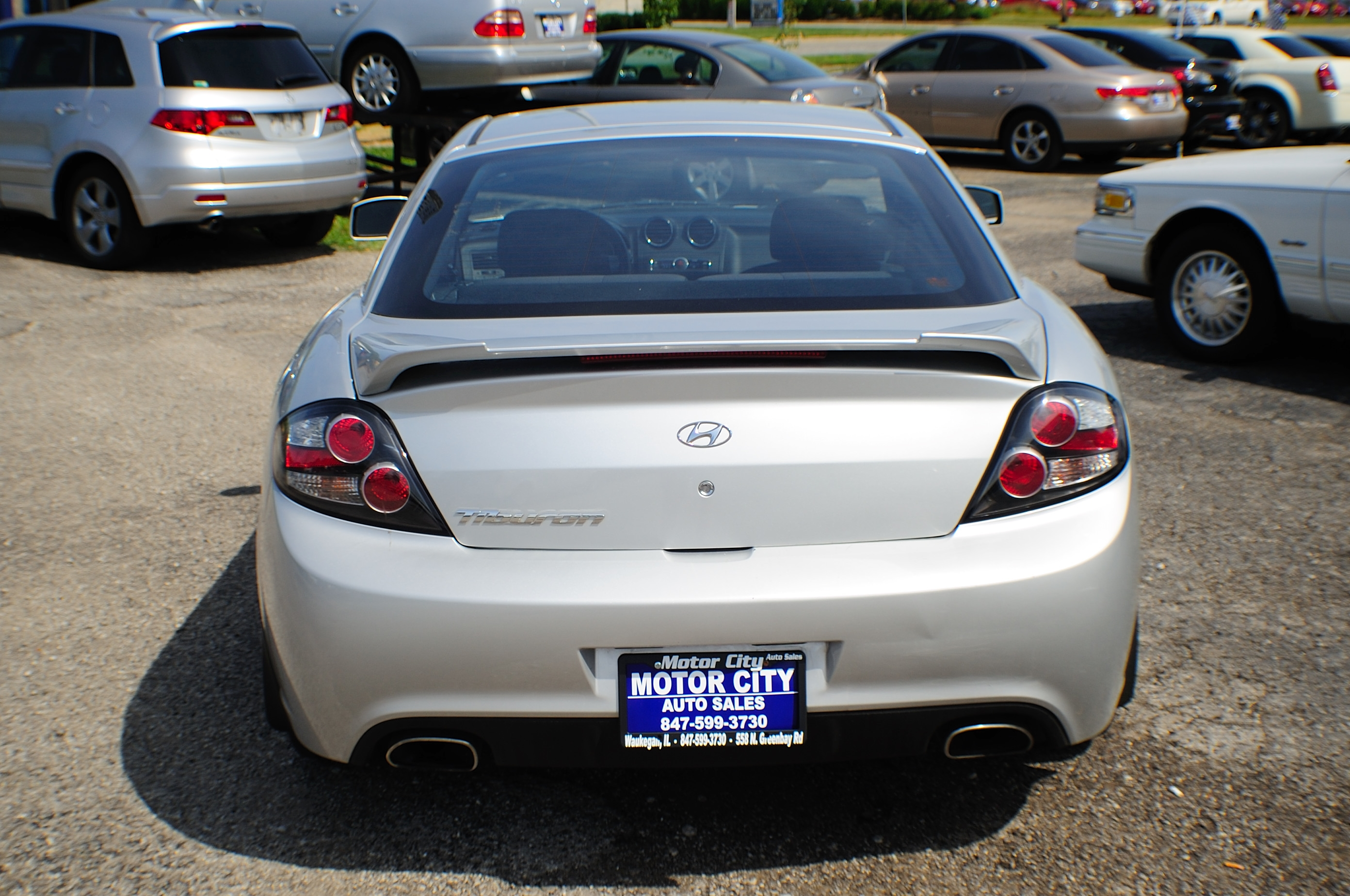 2008 Hyundai Tiberon GS Silver Sport Coupe Used Car Sale Waukegan Kenosha