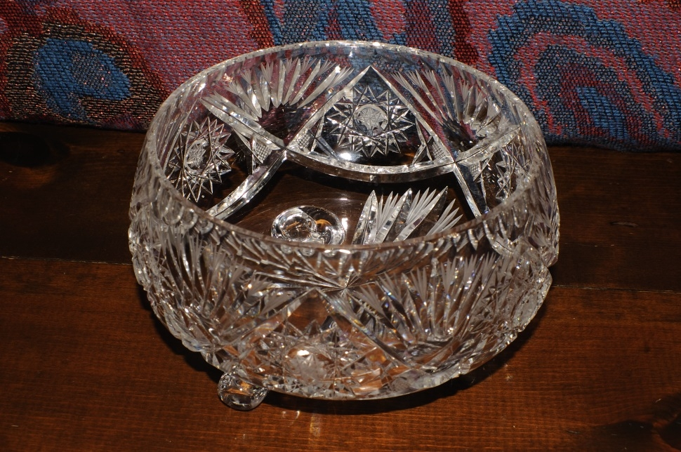 Cut Glass Crystal Decorative Star David Candy Bowl sale