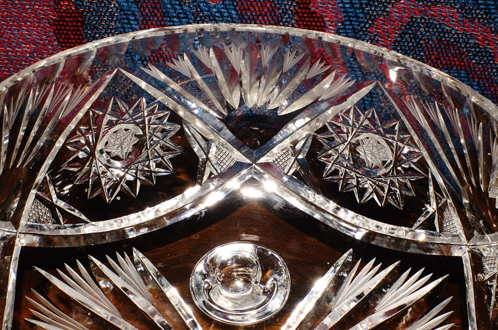 Cut Glass Crystal Decorative Star David Candy Fruit Bowl sale best price