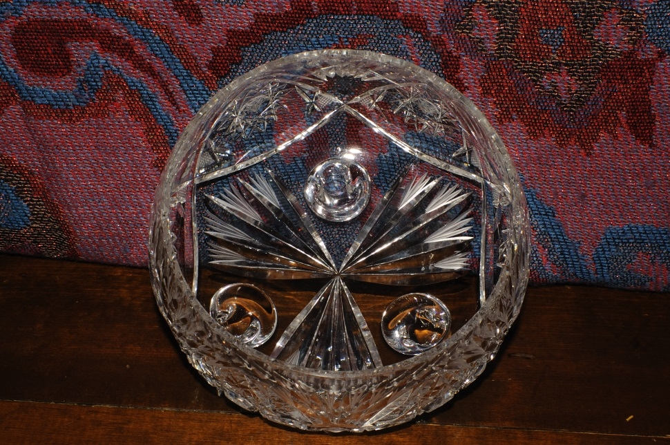 Cut Glass Crystal Decorative Star David Candy Fruit Bowl sale kitchen container