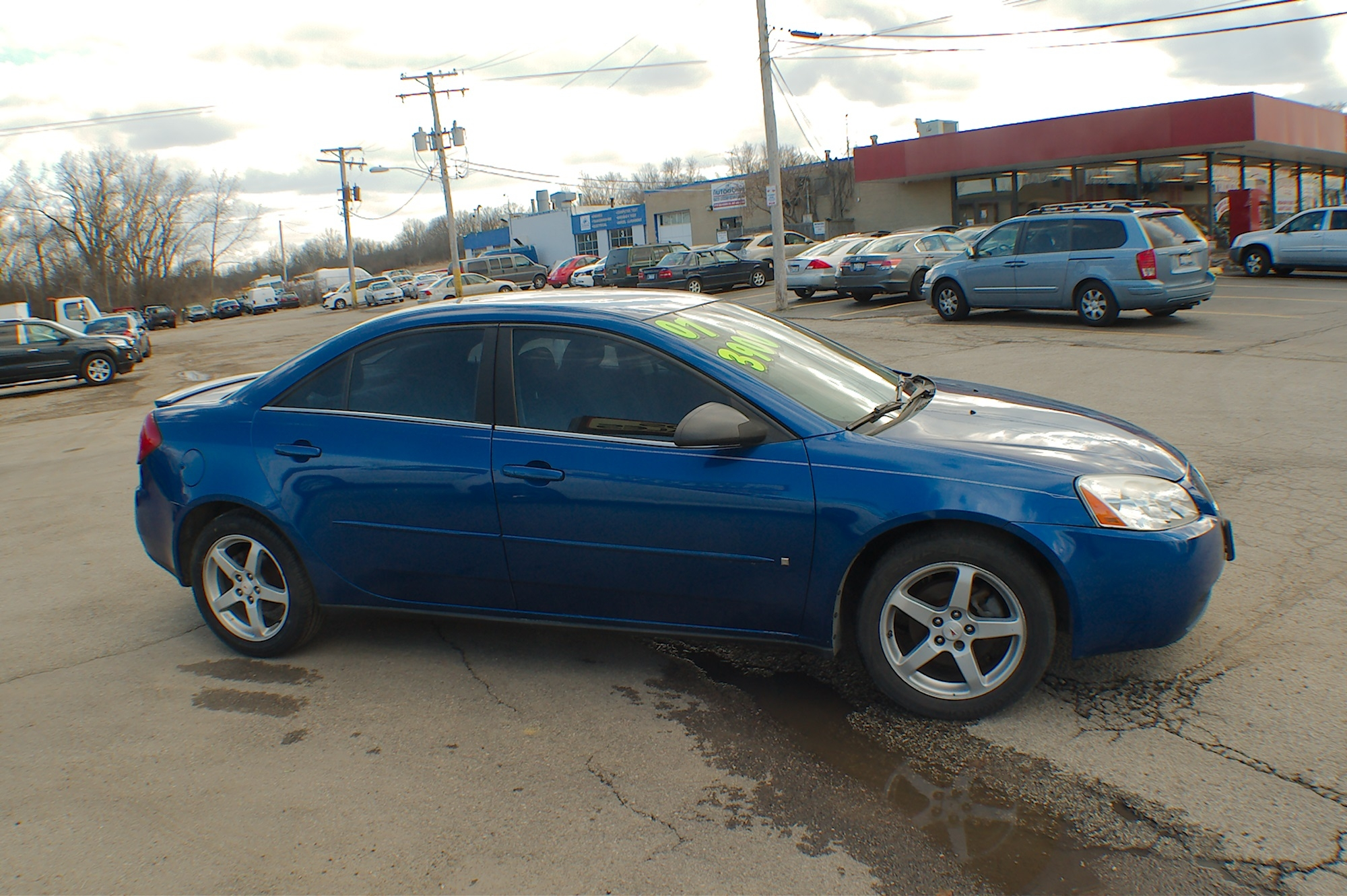 2007 Pontiac G6 Blue Sedan Used Car Sale Bannockburn Barrington Beach Park