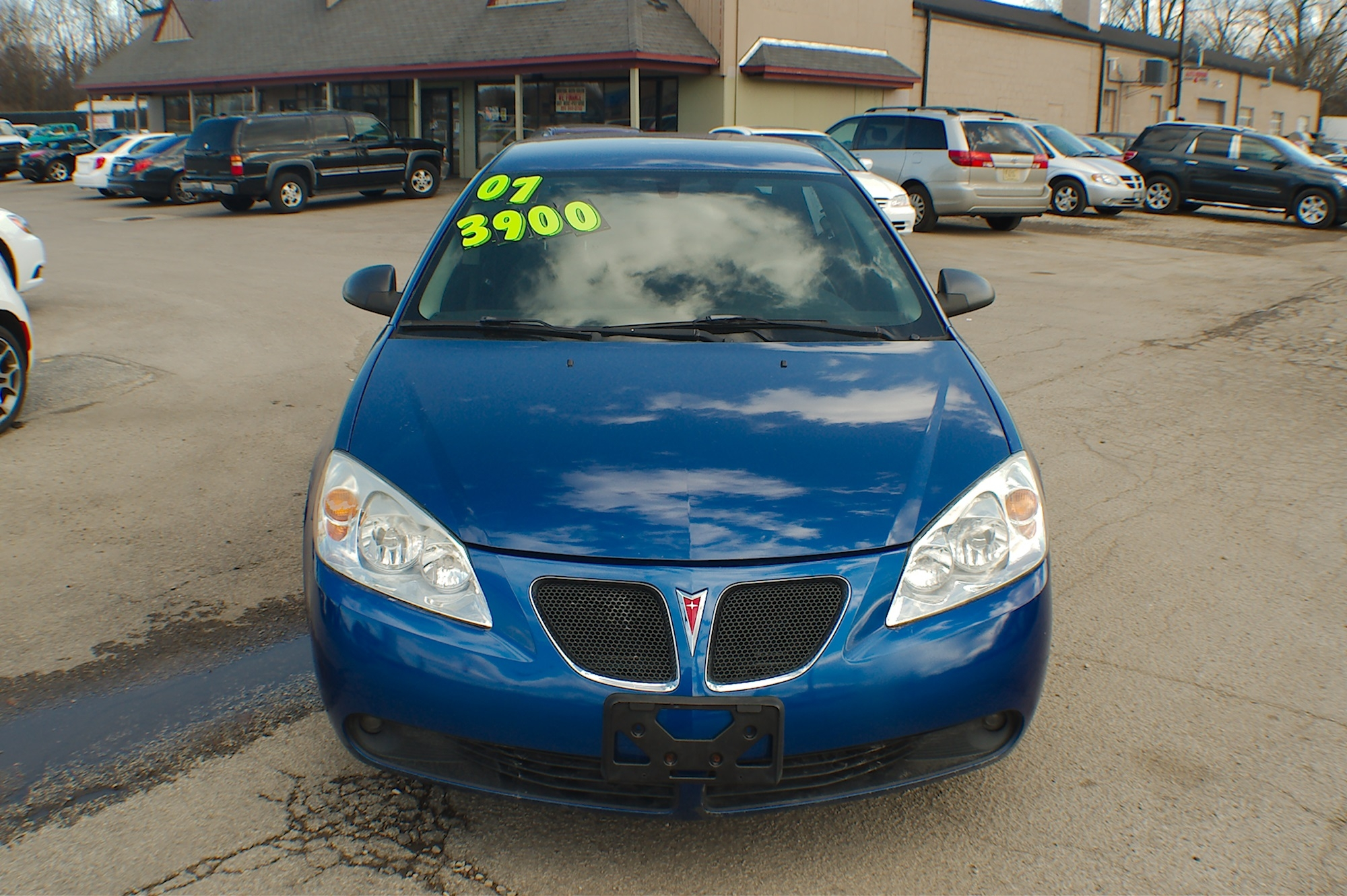 2007 Pontiac G6 Blue Sedan Used Car Sale Gurnee Kenosha Mchenry Chicago Illinois