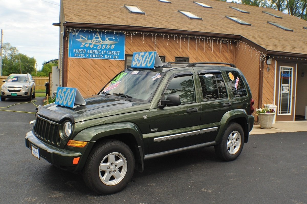 2006 Jeep Liberty Green 4x4 used SUV Sale Antioch Zion Waukegan Lake County Illinois