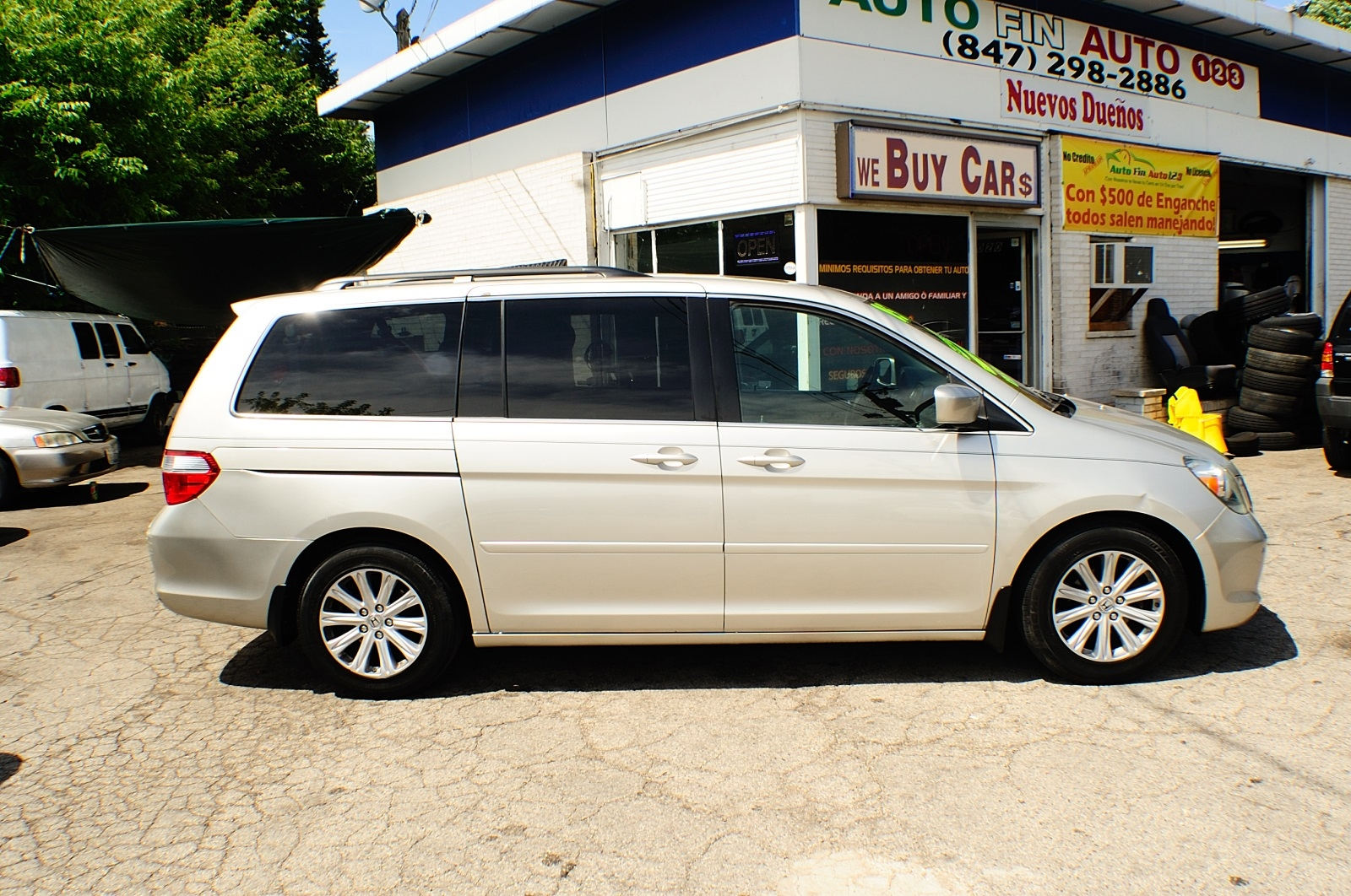 2005 Honda Odyssey Silver Touring Used Mini Van Sale Downers Grove Carpentersville Cicero Oak Park