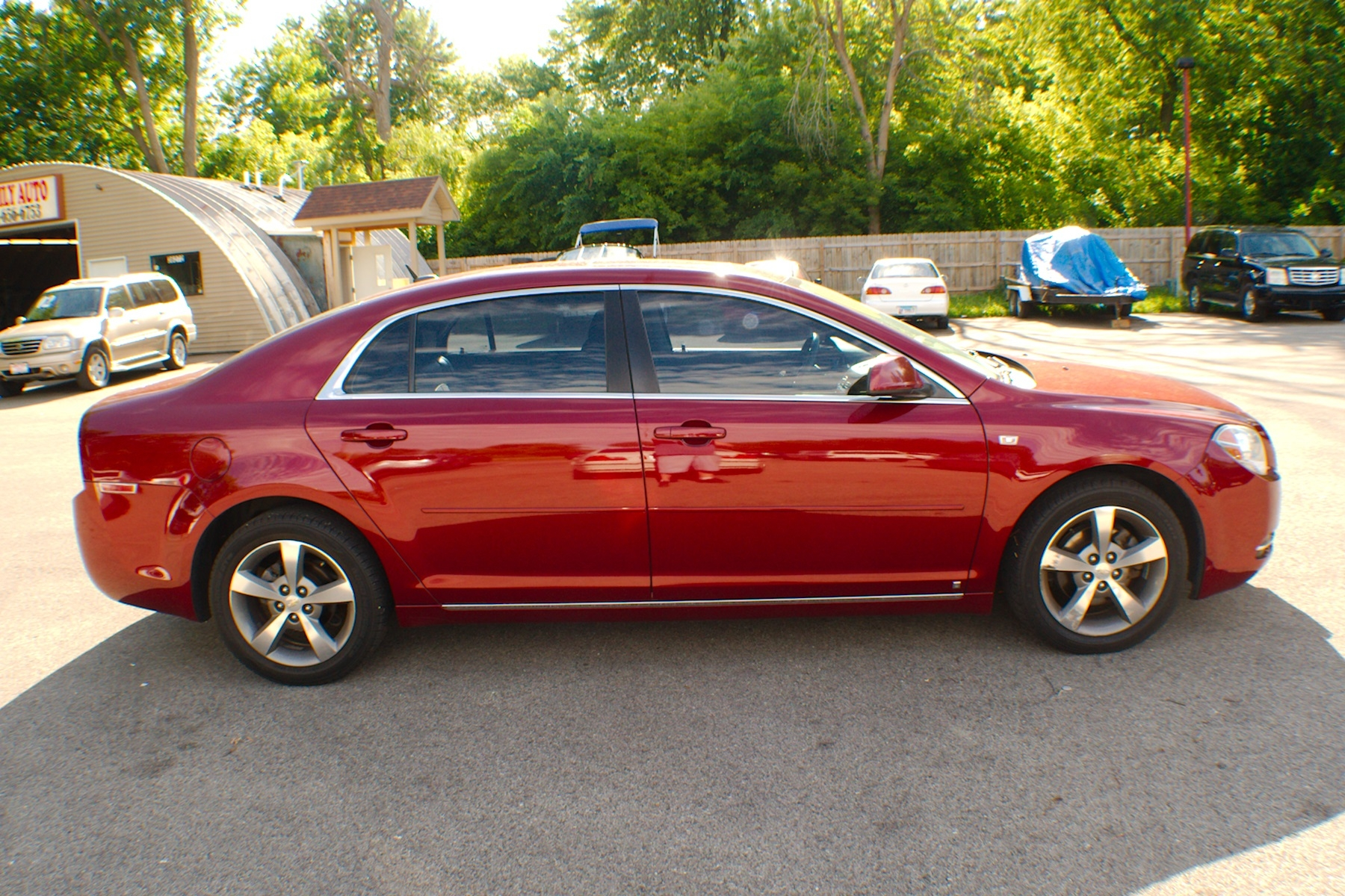 2008 Chevrolet Malibu LT Red Used Sedan Sale Bannockburn Barrington Beach Park