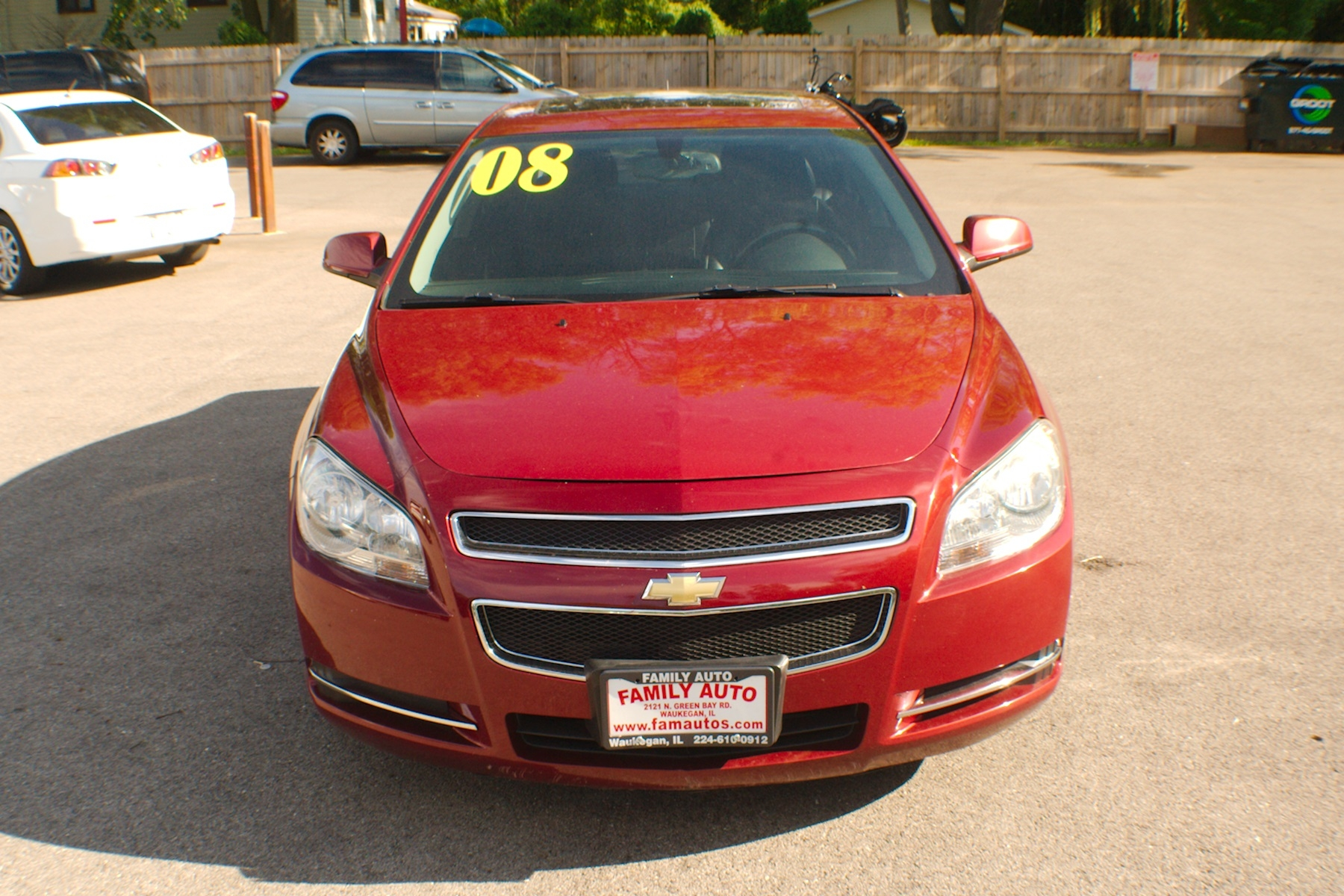 2008 Chevrolet Malibu LT Red Used Sedan Sale Gurnee Kenosha Mchenry Chicago Illinois