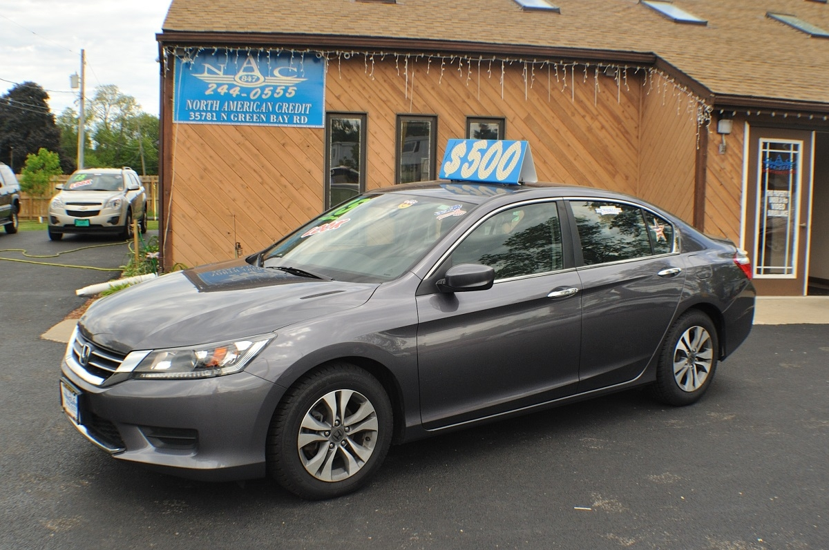 2015 Honda Accord Gray Used Sedan Sale