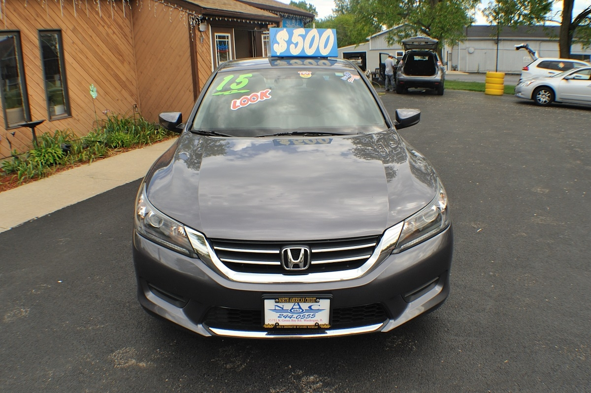 Honda Dealers Illinois >> 2015 Honda Accord Gray used Sedan Sale