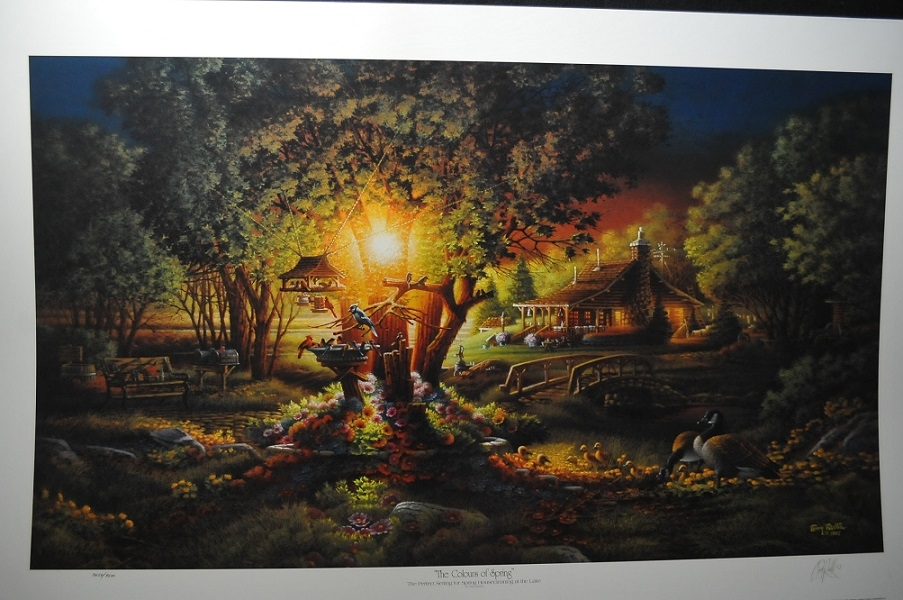 Terry Redlin The Colours of Spring Artist Signed Lithograph Art Print Sale
