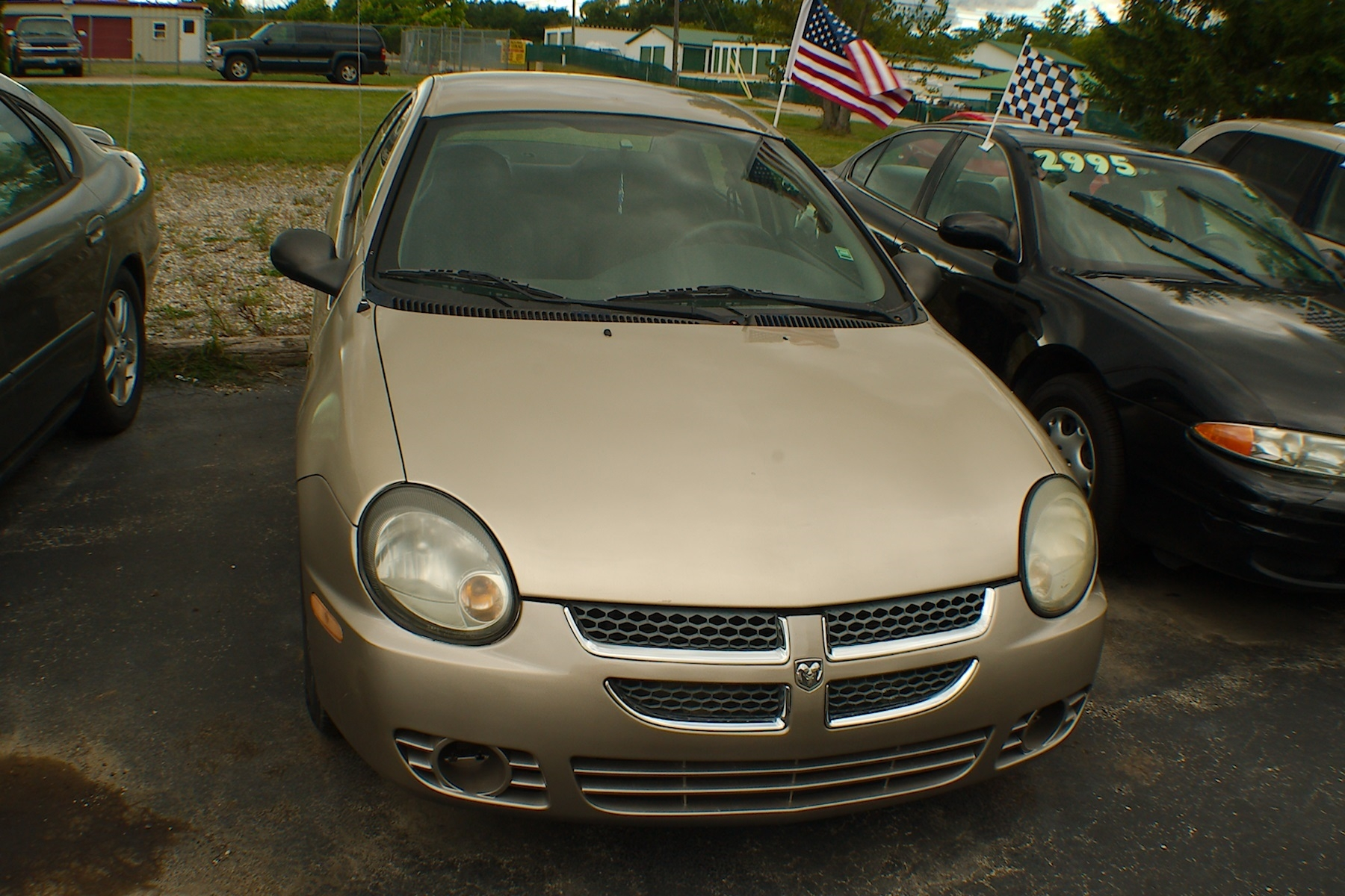 2003 Dodge Neon Pewter Sedan Used Car Sale Gurnee Kenosha Mchenry Chicago Illinois