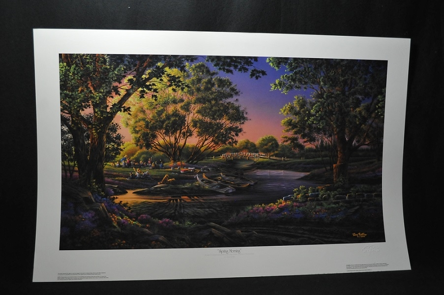 Terry Redlin Spring Morning River Park Art Print sale