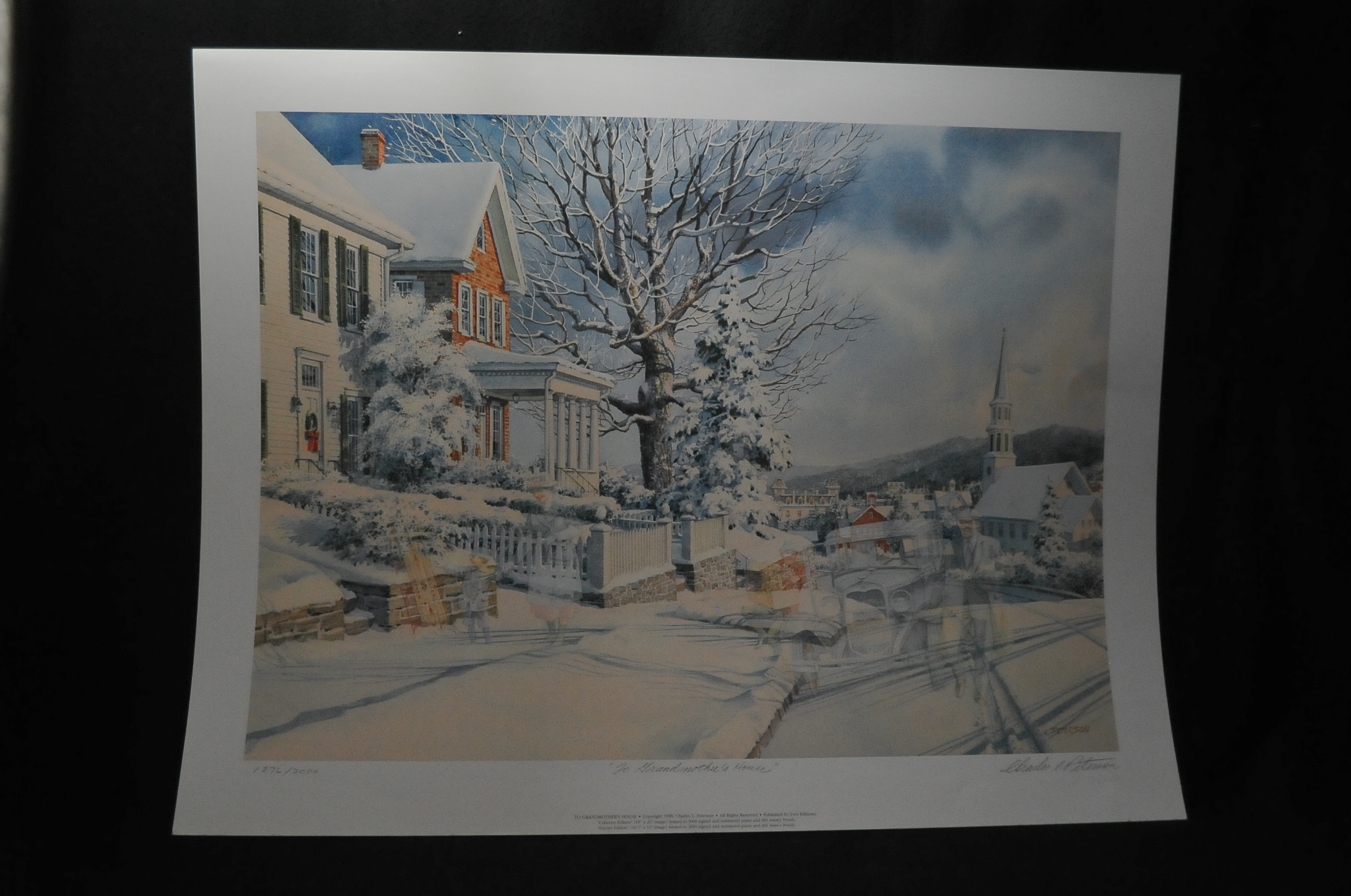 Charles Peterson grandmothers house winter art Print sale best price