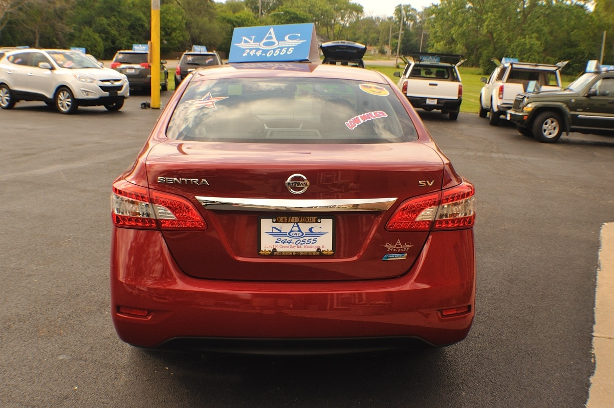 2014 Nissan Sentra SV Red Sedan used car sale Buffalo Grove Deerfield Fox Lake Antioch