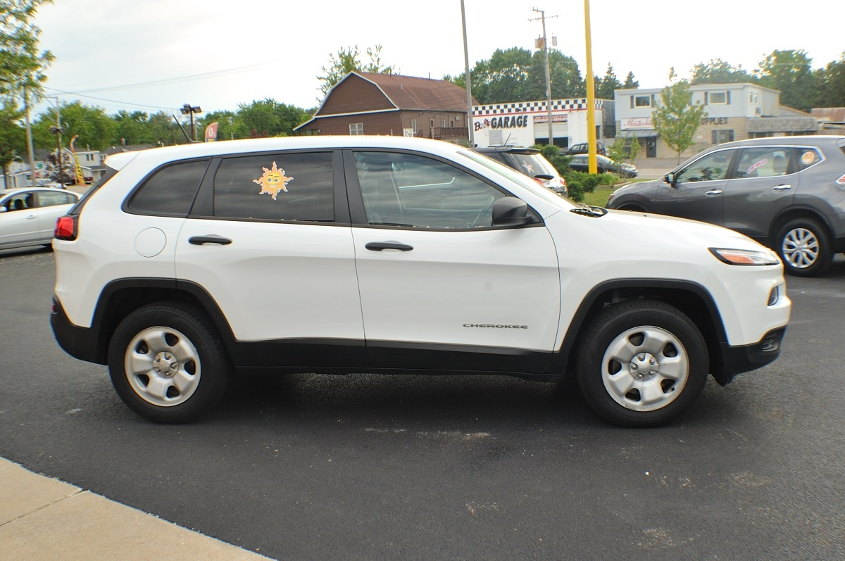 2014 Jeep Cherokee White 4x4 Sport Used SUV Sale Bannockburn Barrington Beach Park