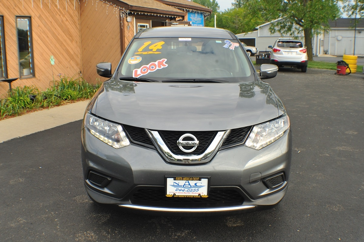 2014 Nissan Rogue AWD Gray Used SUV Sale Gurnee Kenosha Mchenry Chicago Illinois