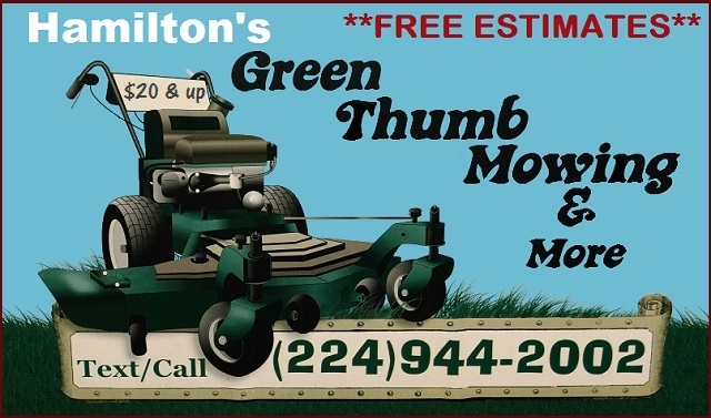 Hamiltons Green Thumb Mowing Professional Lawn Service Waukegan Gurnee Zion Lake Forest