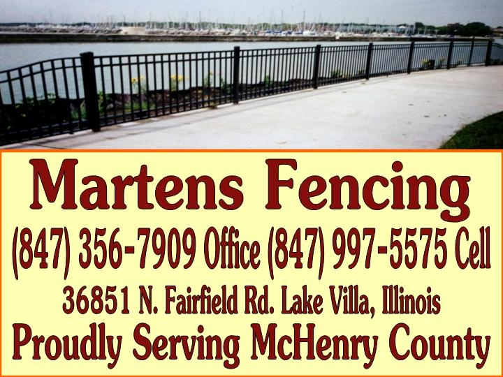 Martens Fencing Company Best fence installer Johnsburg McHenry