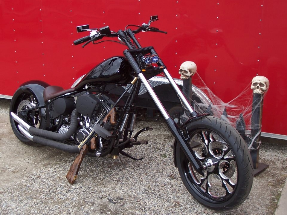 2015 New Age Choppers Black Custom Motorcycle Sale Waukegan