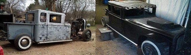 cool hot rod custom fabrication miniature chopper builder Lake County Illinois