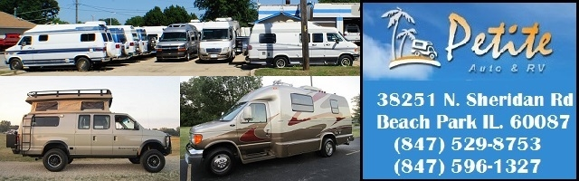 Petite RV Beach Park Illinois buy sell trade motor home dealer