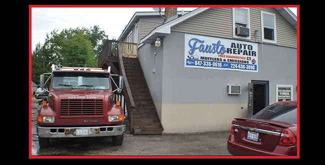 car repair shop Waukegan Fausto Gurnee Zion Muffler Brakes Fix