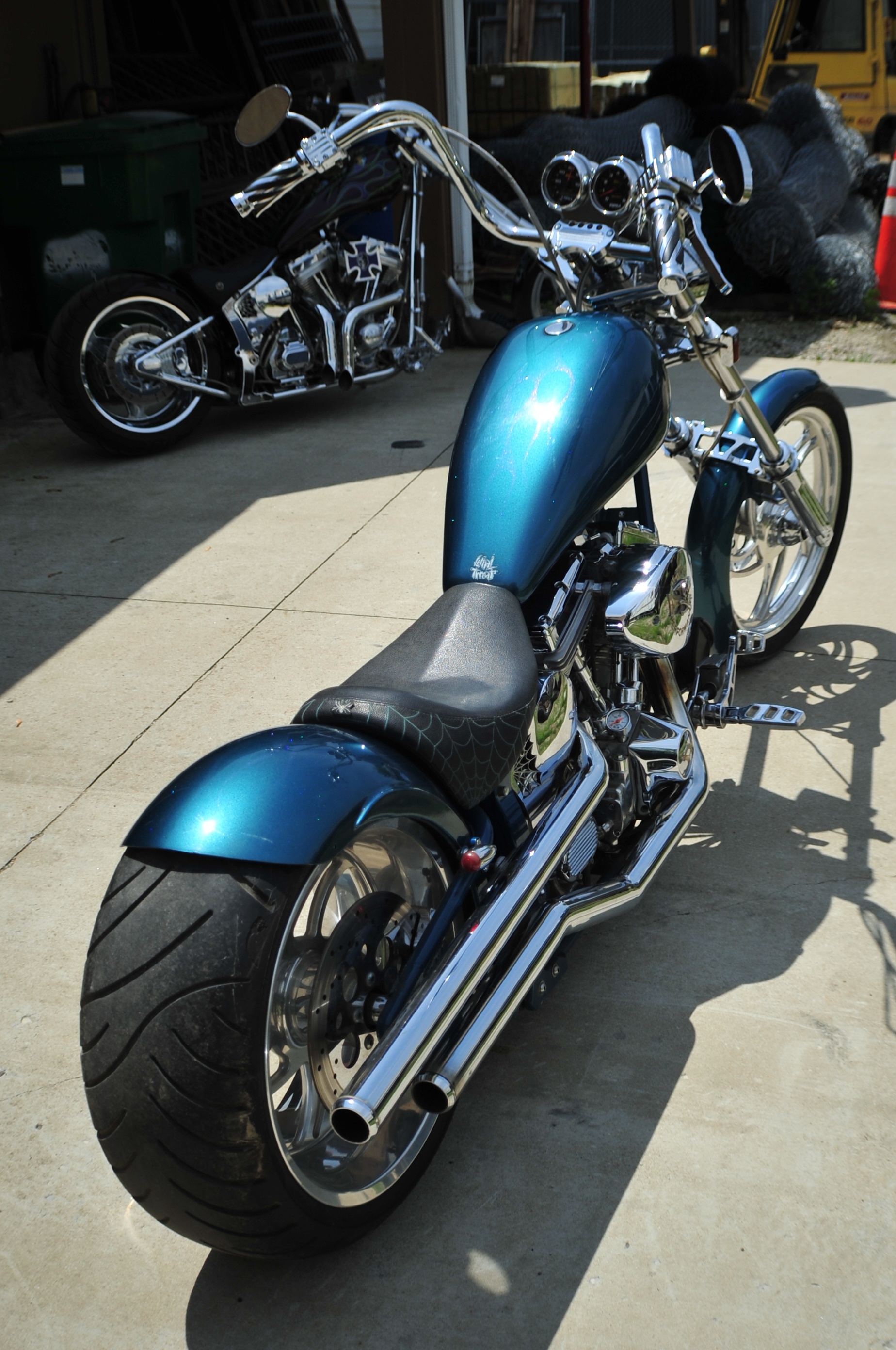 2015 New Age Choppers Blue Ghost Flames Custom Motorcycle Sale Wadsworth