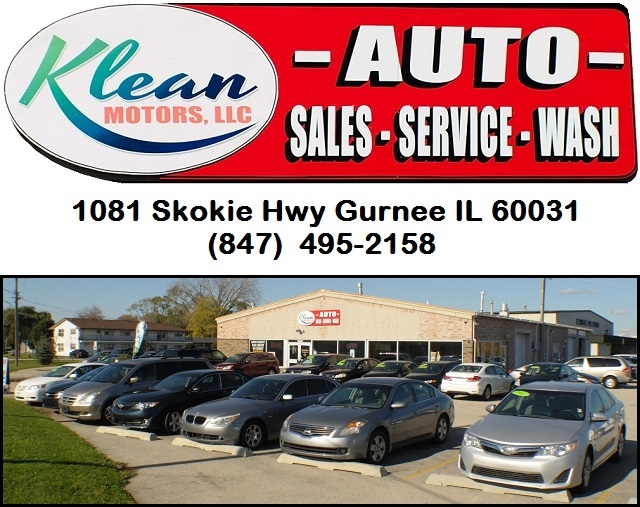 Klean used car auto dealer Gurnee trucks cars motorcycles buy sell trade