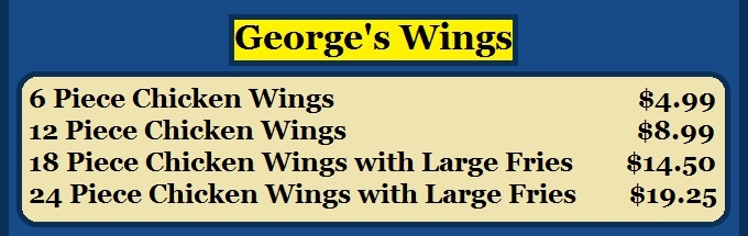 Georges Gyros Best Chicken Wings North Chicago favorite restaurant Great Lakes Navy