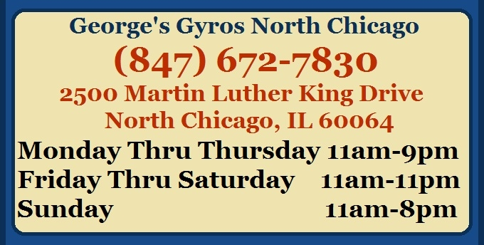 Georges Gyros North Chicago Full online menu page