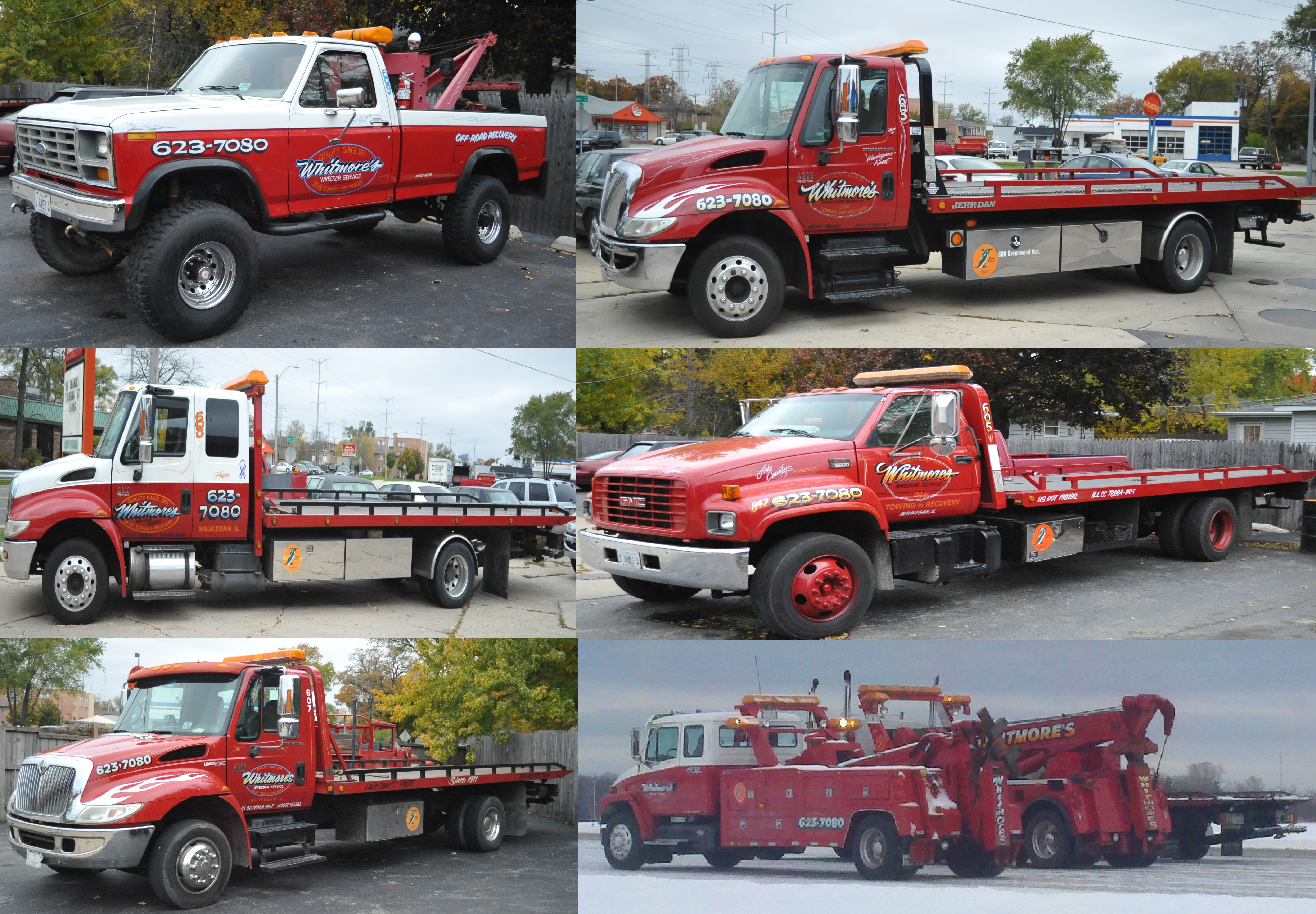 Whitmores Auto Service Semi truck truck towing Waukegan Gurnee Best Tow Company